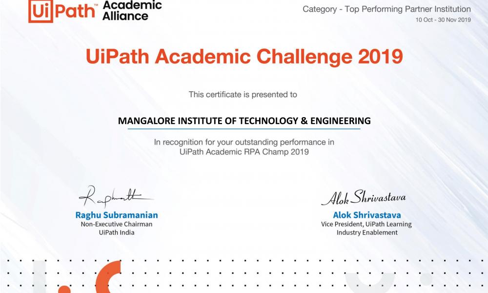 MITE - UiPath Academic Challenge
